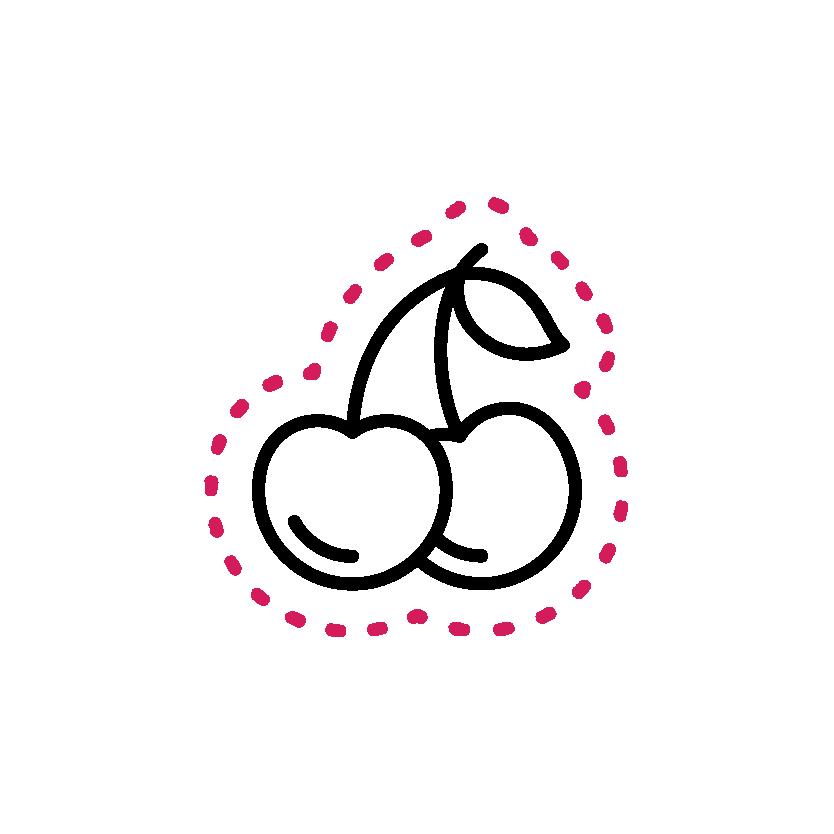 Black Cherries - Service sticker